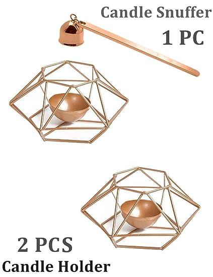 Amazoncom Kwlet 2 Sets Geometric Candle Holders With 1 Free Candle