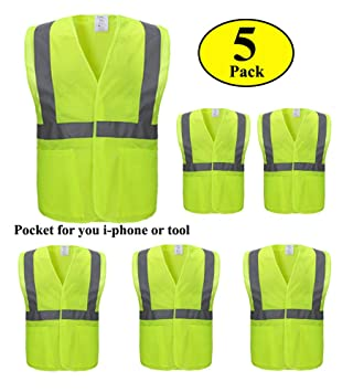 Reflective Vest Sanitation Building Construction Mesh Vest For Fast Shipping Security & Protection Safety Clothing