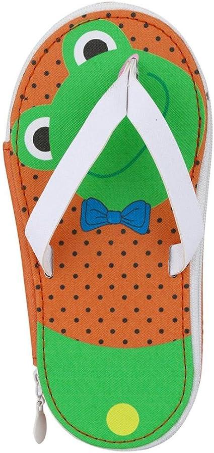 XiongBuy - Bolígrafo de bolsillo para escuela, regalo, creativo, zapatillas de fruta, estuche para cosméticos para niñas: Amazon.es: Oficina y papelería