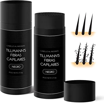Tillmanns Fibras Capilares Castaño Claro 27,5 gramos – Caida Cabello Hombre – Keratin Fibers – Disimular Calvicie Al Instante Con Polvo de Queratina 100% Natural: Amazon.es: Belleza