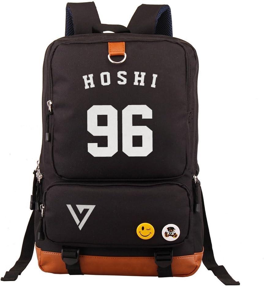 Fanstown Seventeen Kpop Backpack Pencil case Set Canvas Messenger Bag with lomocard