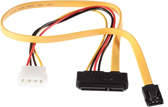 Poppstar 1 X Sata 3 Hdd Ssd Dual Cable Y Cable Power Computers Accessories
