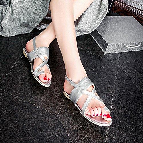 Sandali Dei Sandali Degli Appartamenti Della Fibbia Di Modo Popolare Popolare Casuale Delle Donne Di Carolbar