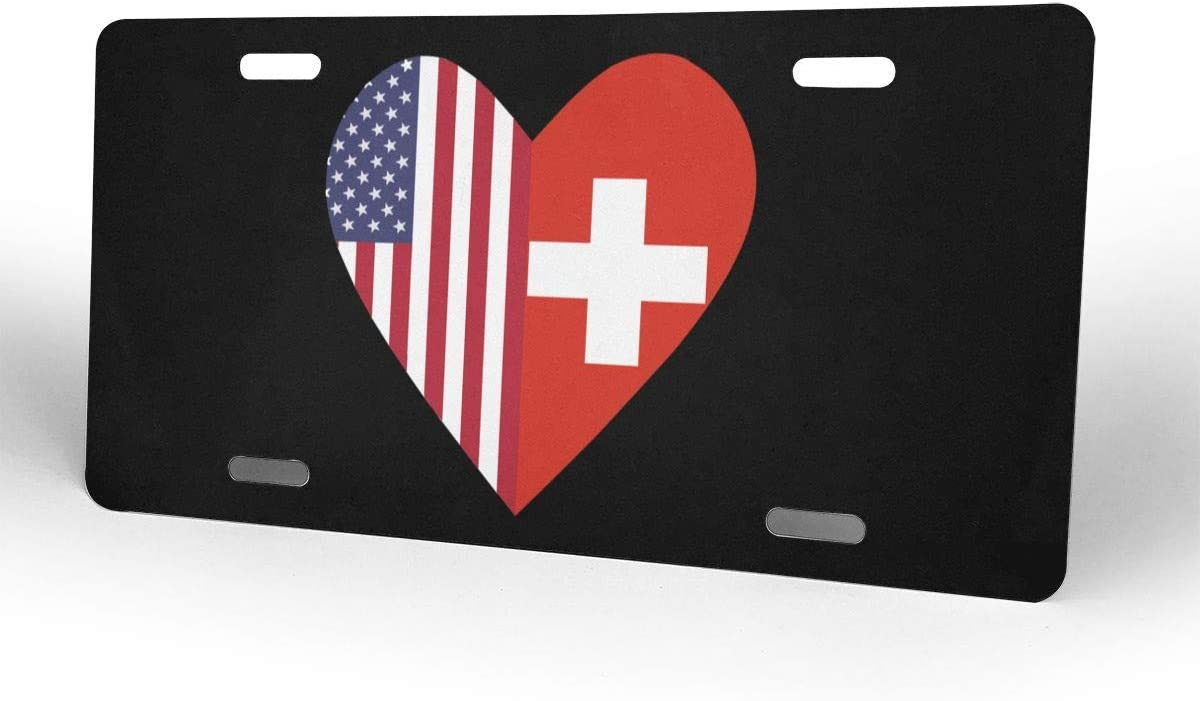 KBIKO-zxl 6x12 Inch Soccer Heartbeat Aluminum Metal License Plate Car Tag with 4 Holes Car Tag