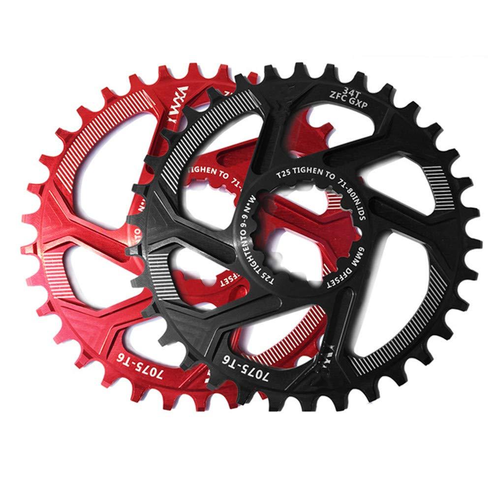 Ligero y fuerte Aleación de aluminio de la biela de la bicicleta de GXP 30T 32T 34T 36T 38T Rueda de la rueda de cadena ancha angosta para Sram XX1 XO1 X 1 GX XO X9 Piezas de la bicicleta de la biela Gimitunus