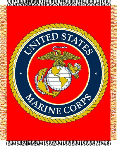 Marines Jacquard Woven Throw Blanket product image