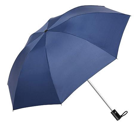 DORRISO Paraguas Plegable Reverso Automático Mujer Hombres Viajar Auto Multiuso y Resistente al Viento Impermeable Antideslizante