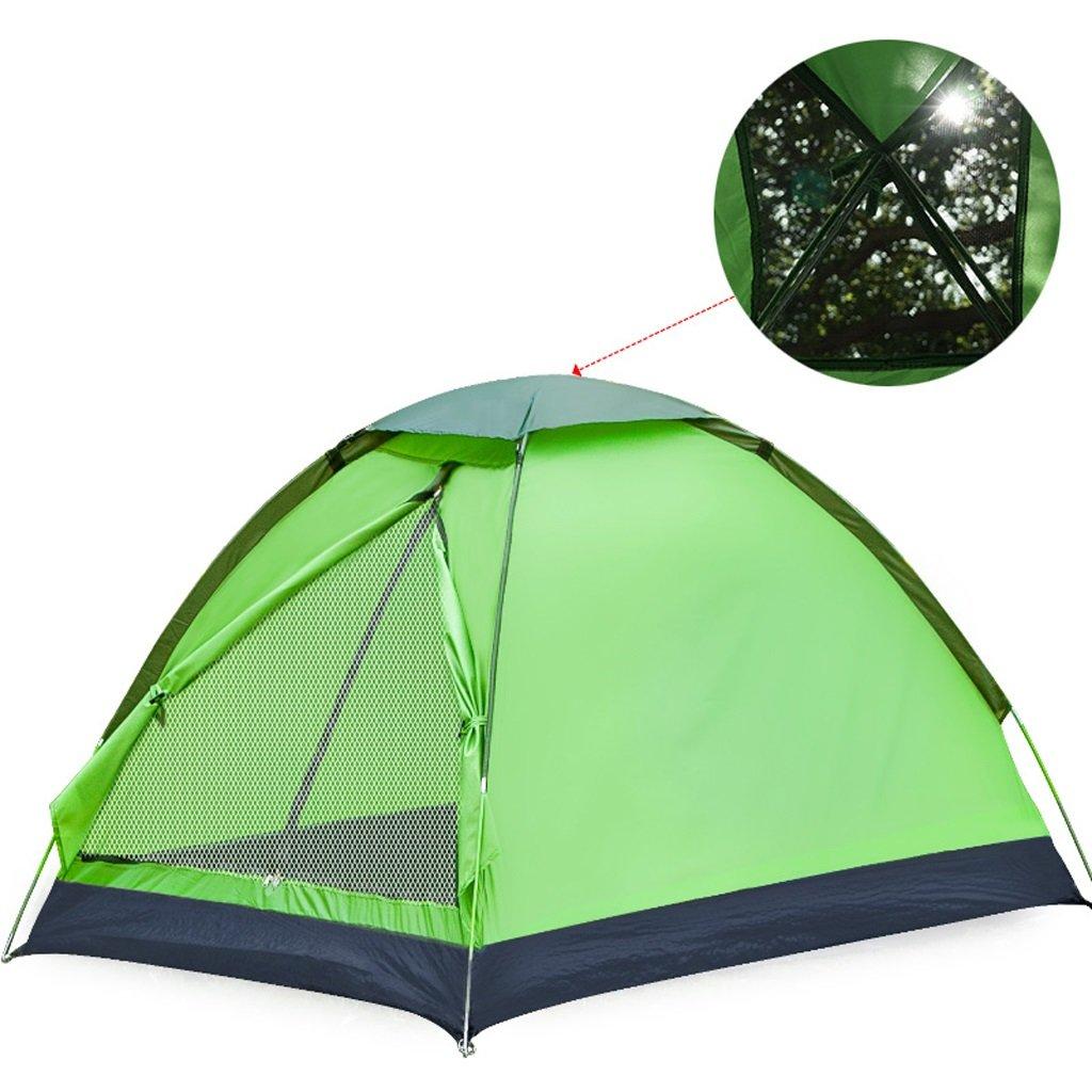LINGZHIGAN キャンプテントアウトドア2人キャンプ3-4人家族キャンプ場ダブルシングルテント (色 : Green) B07FBHM9S7  Green