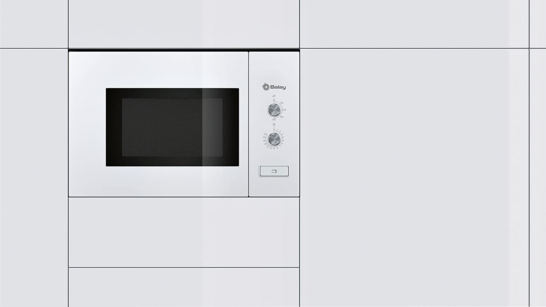 Balay 3WM360BIC Serie Cristal - Microondas integrables con plato giratorio y apertura de puerta con botón, 800 W, blanco, 20 L: Amazon.es: Hogar