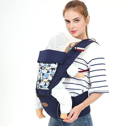 Homesave Mochilas Ergonómicas Baby Baby con Asiento De Cadera para Todas Las Estaciones,Blue