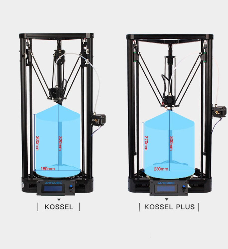 Anycubic Upgraded Delta Rostock 3D Printer Kit Large Print ...