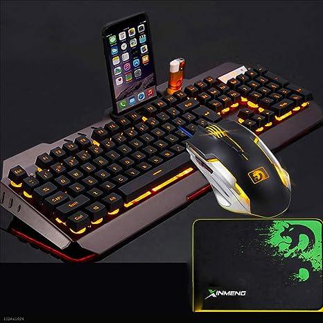 Kaiyu Wired Gaming Keyboard 455 * 175 Mm (Teclado + Mouse + Auriculares (Naranja