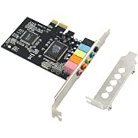 GODSHARK PCIe Sound Card, 5.1 Internal Sound Card for PC Windows 7 with Low Profile Bracket, 3D Stereo PCI-e Audio Card, CMI8738 Chip 32/64 Bit Sound Card PCI Express Adapter