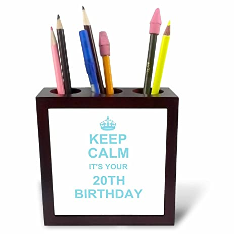 amazon com 3drose ph 157657 1 keep calm its your 20th birthday blue