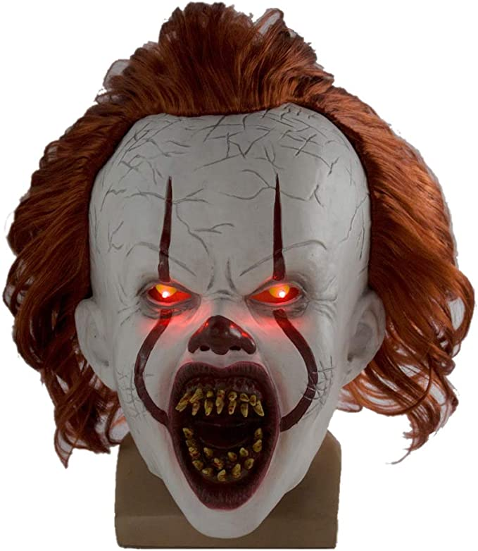 hcoser It: Chapter Two Pennywise Máscara con LED Luz Colmillo ...