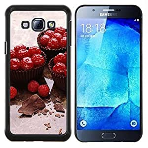 TECHCASE---Cubierta de la caja de protección para la piel dura ** Samsung Galaxy A8 ( A8000 ) ** --Naturaleza Hermosa Forrest Verde 114