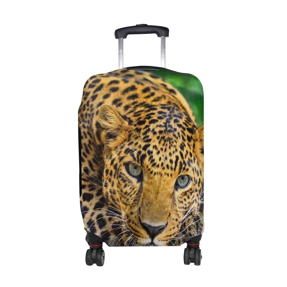 Leopard Pattern Print Luggage Cover Travel Suitcase Protector Fits 26-28 Inch Luggage