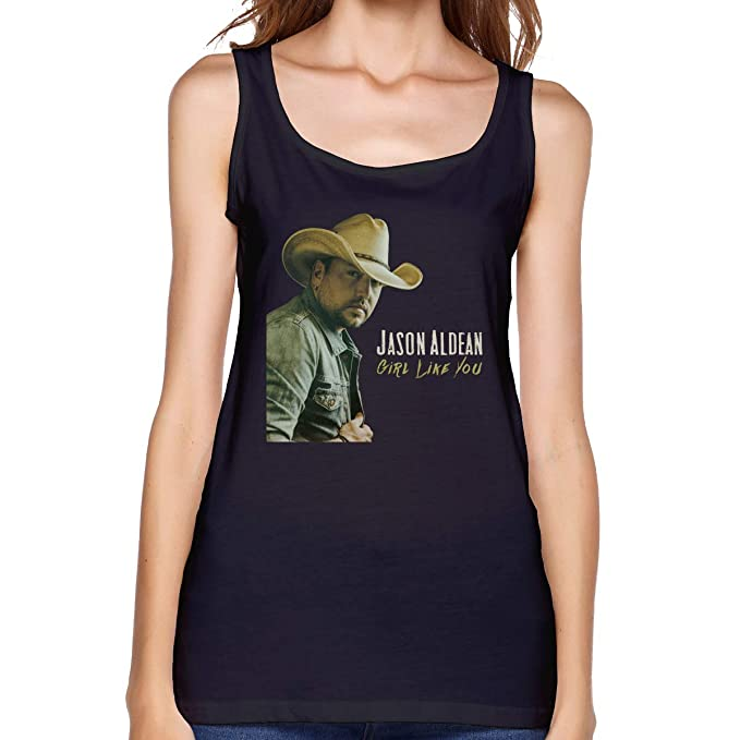 Amazon com: MeredithBush Jason Aldean Music Band Womens Tank