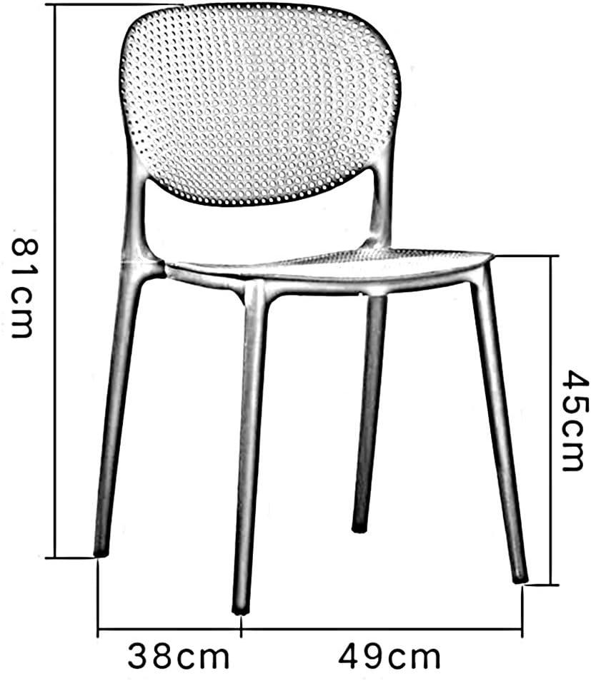 WYYY silla de Oficina Sillas Oficina Sal/ón Comida Cocina Mueble El Plastico M/últiples Colores Durable Durable Fuerte Color : Dark Gray