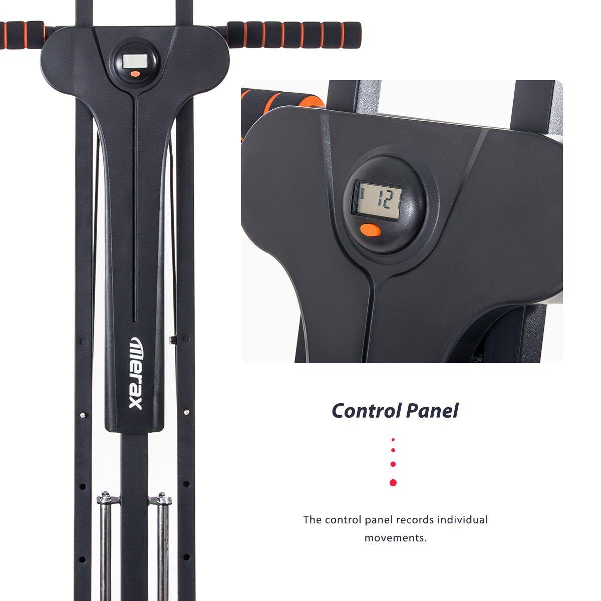 Merax Vertical Climber Fitness Climbing Cardio Machine Full Total Body Workout Fitness Folding Climber 2.0 (Black) by Merax (Image #5)
