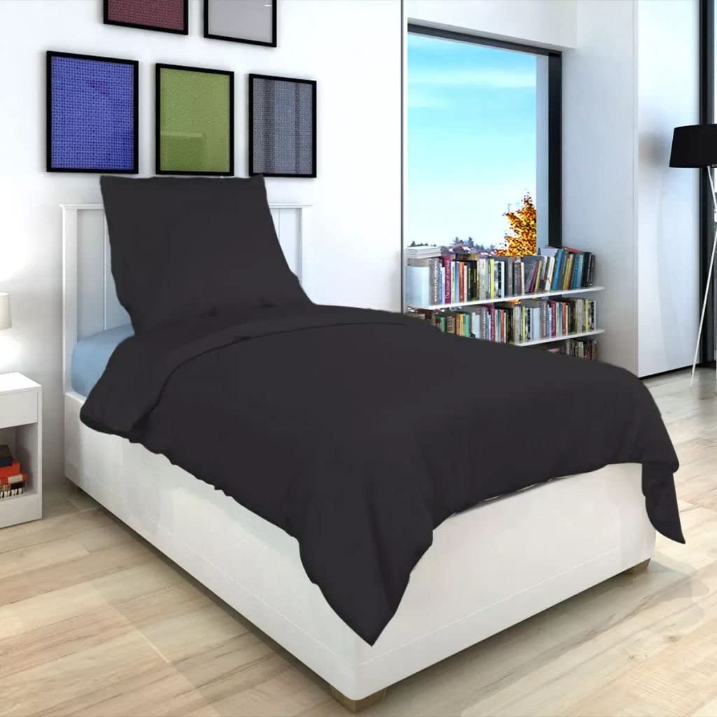 Tidyard Two Piece Set Duvet Cover Set Single Bed Quilt Cover Breathable Absorbent White 135x200//60x70 cm