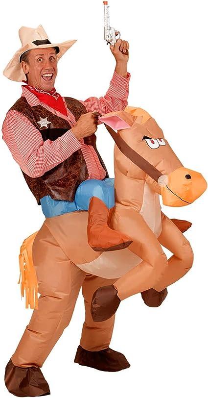 Amazon.com: Disfraz de vaquero inflable de Navidad para ...