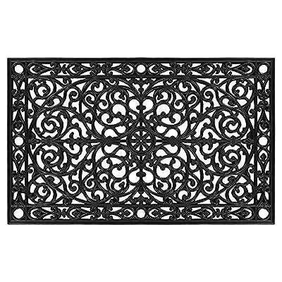 "Calloway Mills 900223048 Gatsby Rubber Doormat, 30"" x 48"" Black"