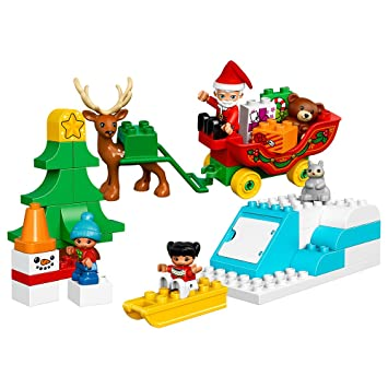 LEGO DUPLO Town Santa's Winter Holiday Building Kit, 45 Piece ...