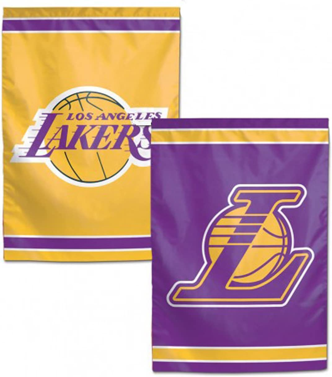 "WinCraft NBA Los Angeles LA Lakers 12.5"" x 18"" Inch 2-Sided Garden Flag Logo"