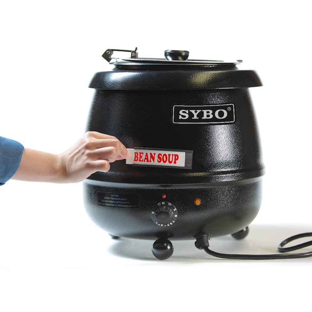 SYBO SB6000 SB-6000 Soup Kettle, 10.5 Quarts, Black and Sliver by SYBO (Image #7)