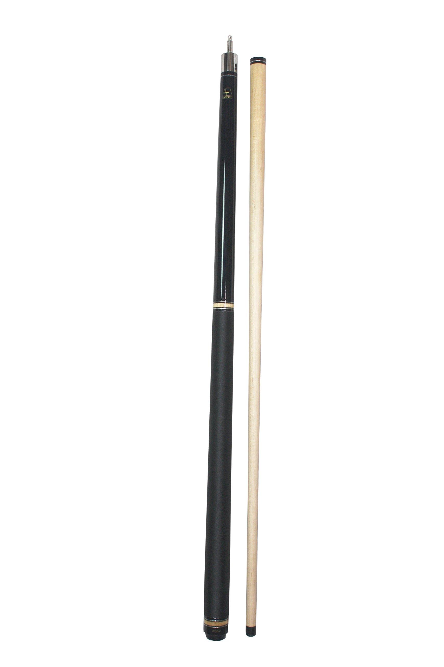 Aska 25-Ounce Heavy Jump Break Cue Stick JBC Black, 3-Piece Jump/Break Cue Stick