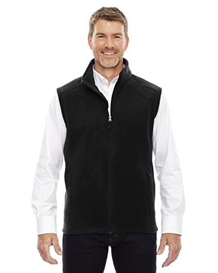 a2b867b3cff519 North End Journey CORE 365TM Mens Black Fleece Sleeveless Vest JACKETS  (US)
