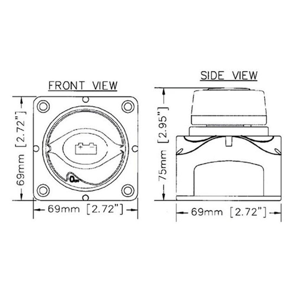 Bater/ía D/éconnecter Sectionneur 24V MoPei Interruptor para Aislamiento de Bater/ía 12V 48V para Marine Barco RV Veh/ículos