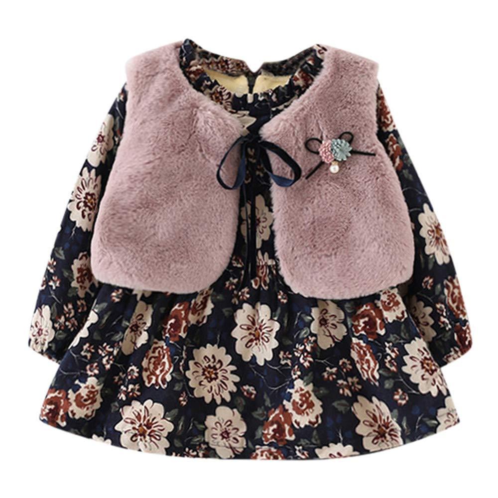 Neugeborene M/ädchen Faux Pelzmantel Dicke Flusen Warme Dicke Plus Mantel Oberbekleidung F/ür 0-24 Monate i-uend 2019 New Baby Mantel