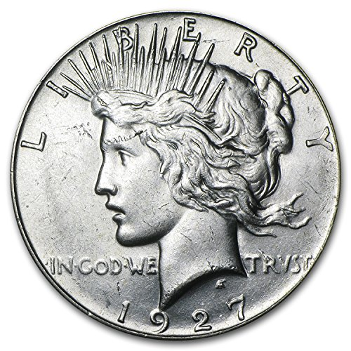 1927 Peace Dollar AU 1 About Uncirculated