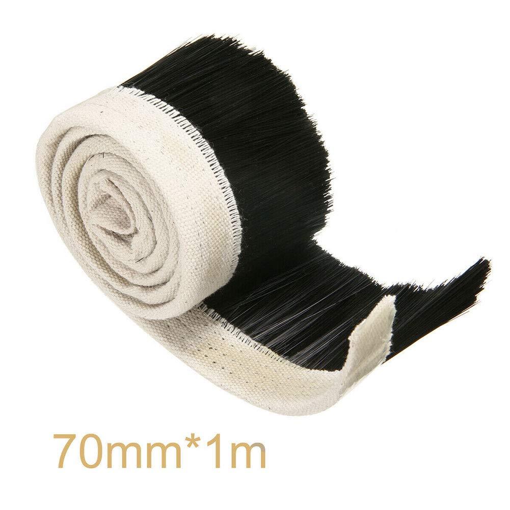 Paletur88 Polvo Cubierta Cepillo Bricolaje Partes Aspiradora Eje Motor Fresadora CNC Carpinter/ía Accesorio Nailon Carpintero Resistente Herramienta 70mm Grabado M/áquina 1M Largo