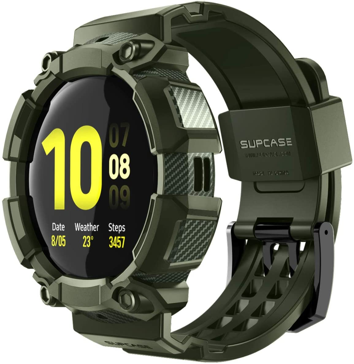 SUPCASE [Unicorn Beetle Pro] Series Case for Galaxy Watch Active 2, Rugged Protective Case with Strap Bands for Galaxy Watch Active 2 [44mm] 2019 Release (Green)