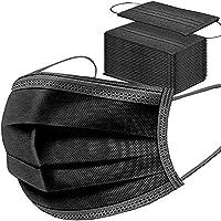 50 stks Zwart Wegwerp Gezichtsmaskers Cover Ademend Stofmasker Rekbaar Elastische Oorlussen