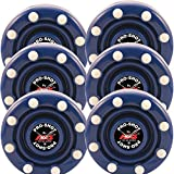 6 Pack of IDS Roller Hockey Puck Pro Shot (Blue)