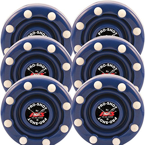Line Hockey Pro Puck In - 6 Pack of IDS Roller Hockey Puck Pro Shot (Blue)