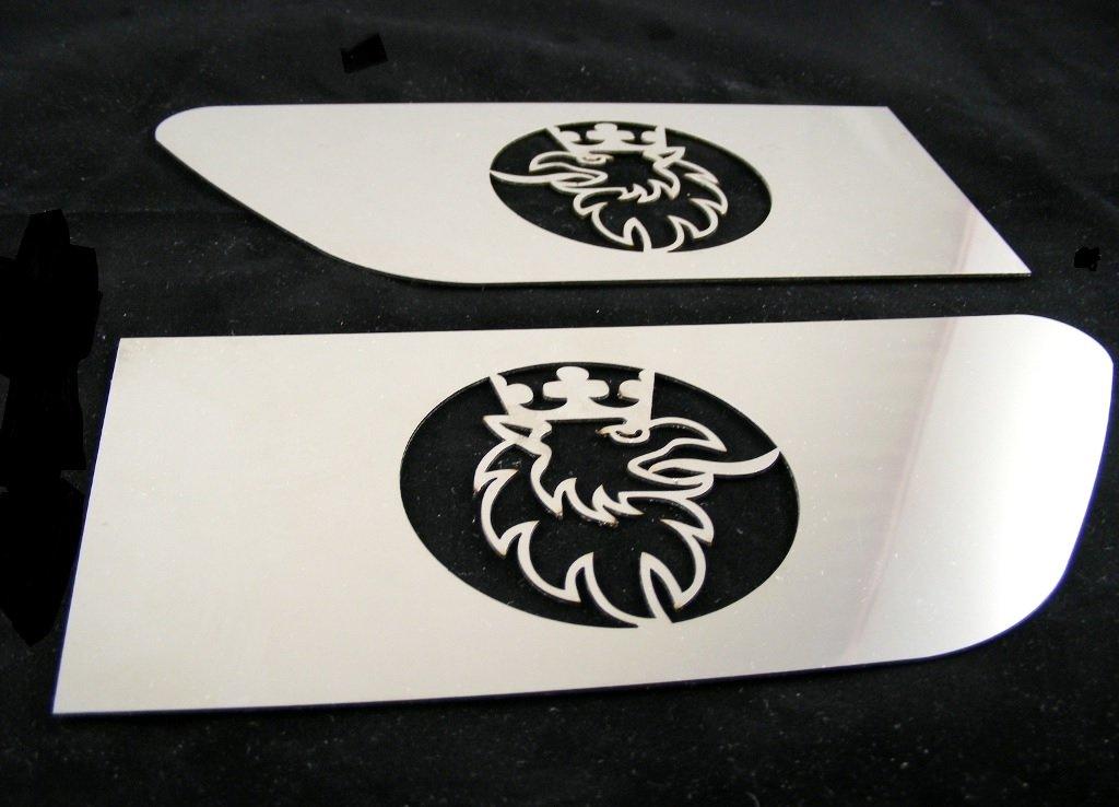 2/x platos de exclusiva ala lateral de acero inoxidable para Scania R Griffin pulido decoraci/ón Izquierdo y Derecho