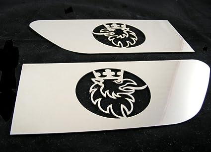 Exclusiva ala lateral de acero inoxidable platos para Scania R Griffin pulido decoración Izquierdo y Derecho