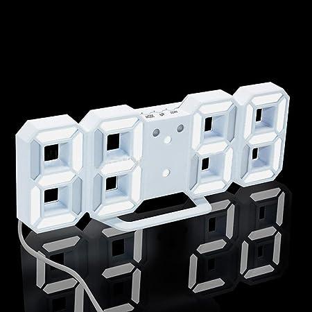 BB677 Reloj de Pared Moderno Digital LED Mesa Escritorio Noche ...