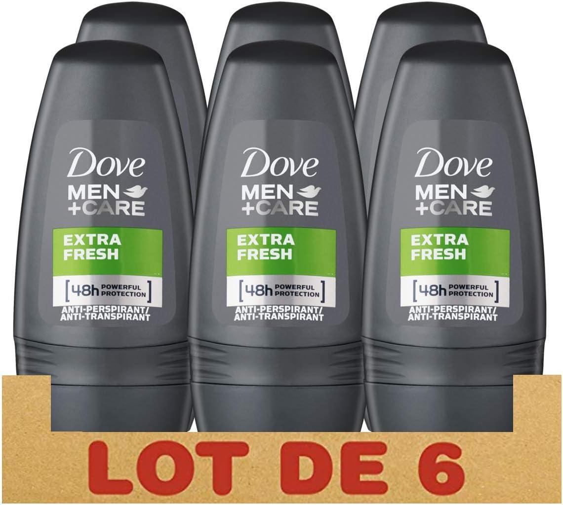 Dove - Men+care extra fresh, desodorante extrafesco, 6 - pack (6 x 50 ml)