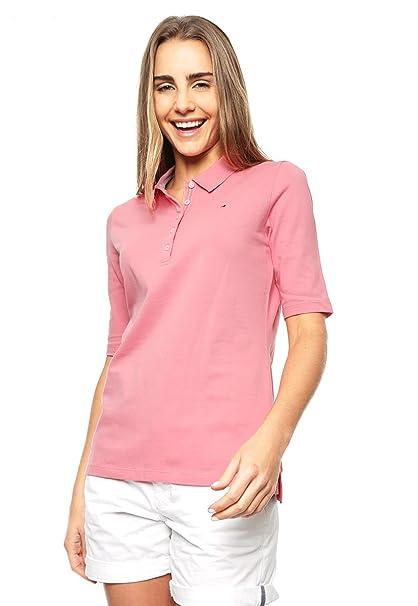 6979ad65ce Tommy Hilfiger Playera tipo Polo Tommy Hilfiger Polo para Mujer Rosa Talla S