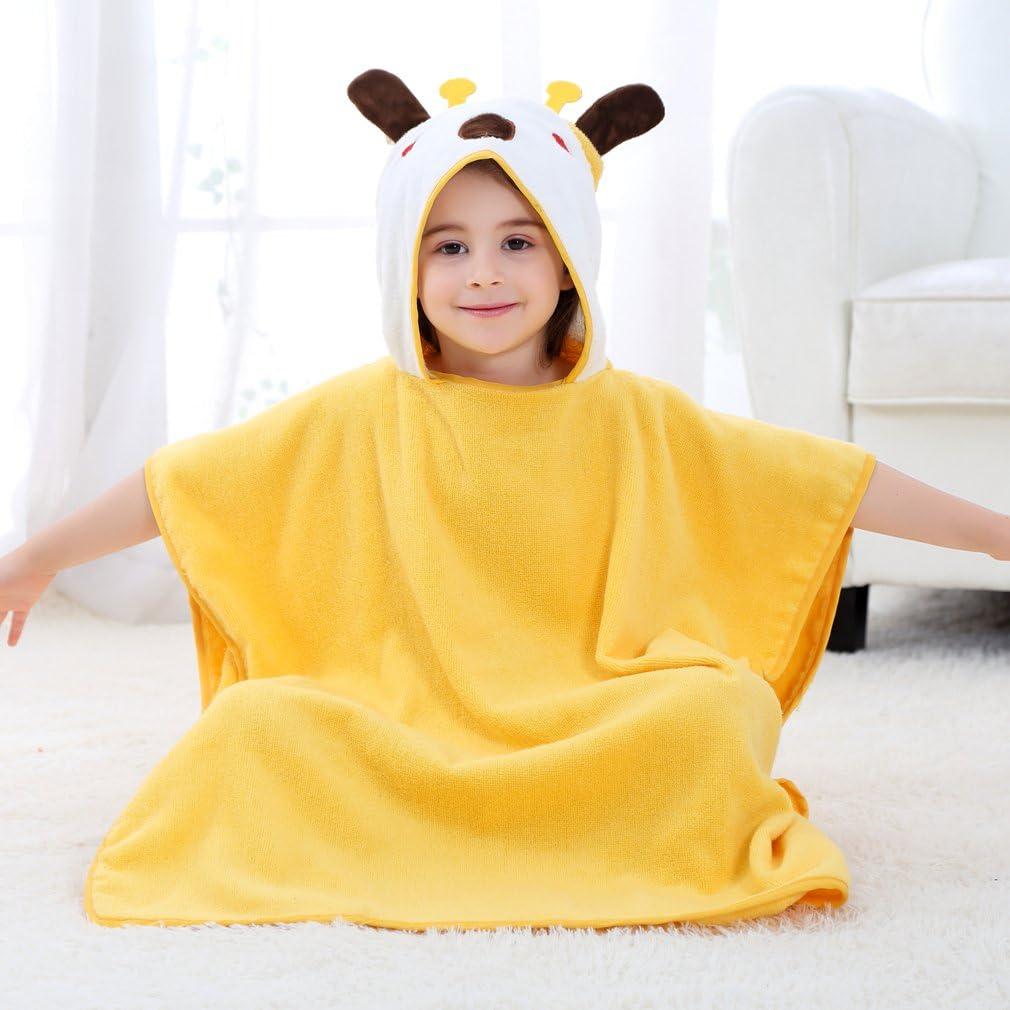 COOKY.D Kids Beach Bath Towel Hooded Poncho Robe 0-6 Years