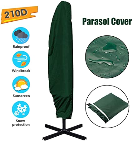 YLAN Funda para Parasol Sombrilla Jardín Impermeable Grande Tela Oxford 210D Voladizo Funda Protectora de Parasol Anti-UV Apto para Toldo de 7ft a 13ft 265cm(50x70x40cm)-Green: Amazon.es: Hogar