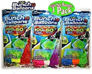 ZURU Bunch O Balloons Instant 100 Self-Sealing Water Balloons Complete Gift Set Bundle, 3 Piece (300 Balloons