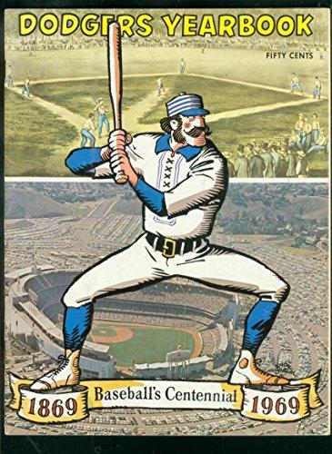 LOS ANGELES DODGERS TEAM YEARBOOK 1969-BASEBALL-MLB VF