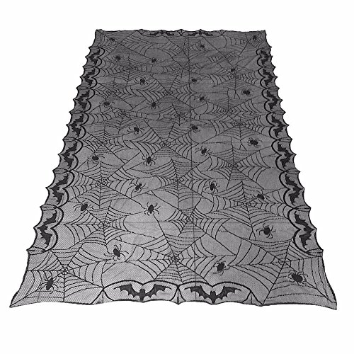 2017 European Classic Design Lace Black Spider Wed Party Decorative Tablecloth Rectangle Table Cover Tablecloth for (Sugar Cube Halloween Costume)